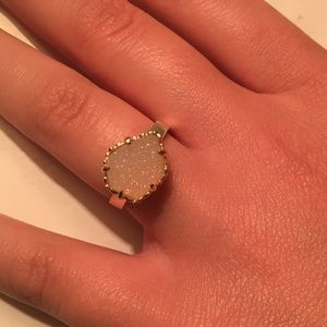 kendra scott white druzy ring
